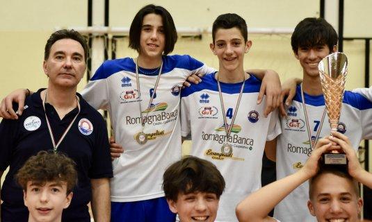 Dinamo Pallavolo Bellaria, storico risultato per l'Under 15 maschile che diventa vicecampione dell'Emilia Romagna.