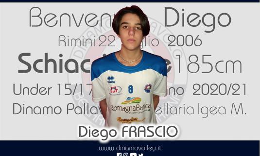Nuovo arrivo nel settore giovanile, è Diego Frascio schiacciatore del 2006