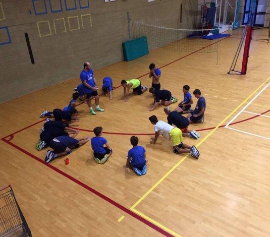 Primo allenamento per i ragazzi dell'under14 maschile della Dinamo Pallavolo!