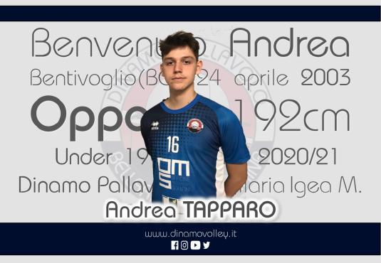 Da Bologna arriva Andrea Tapparo!!