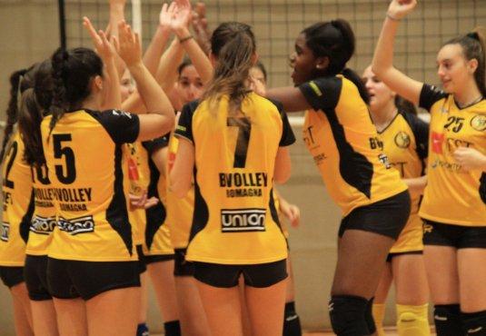 Note positive per le ragazze del Bvolley U14 nel campionato di Seconda Divisione.