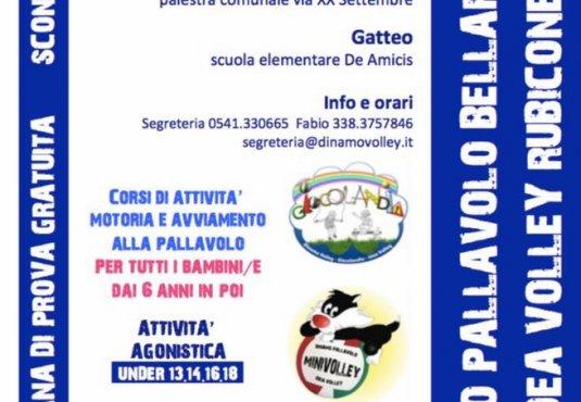 Iniziati i corsi e le attività pallavolistiche Dinamo Bellaria e Idea Volley