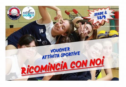 Voucher sport: un sostegno alle famiglie per l'iscrizione dei figli alle attività sportive 2020/2021.