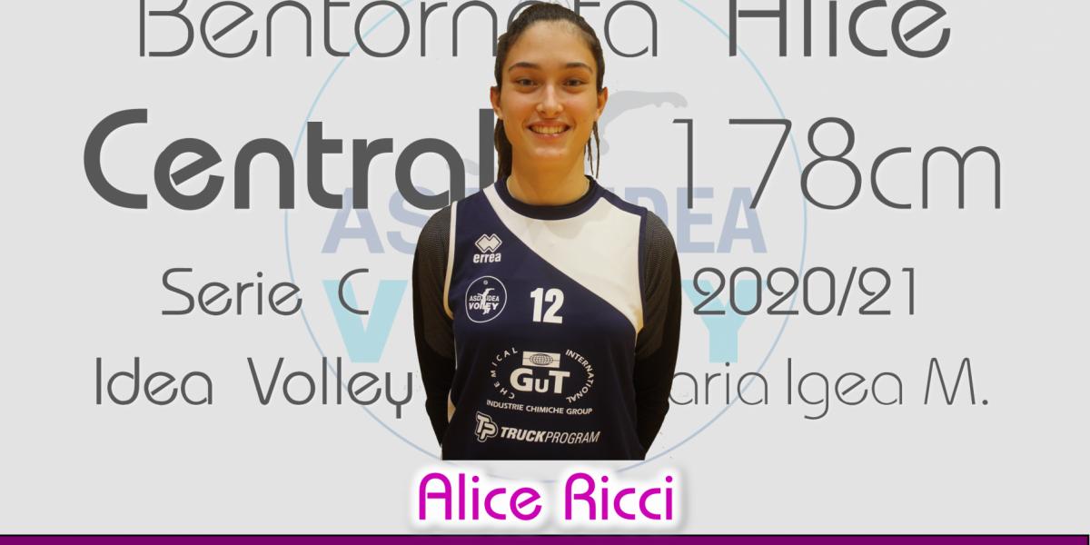 Alice Ricci di nuovo all'Idea Volley!