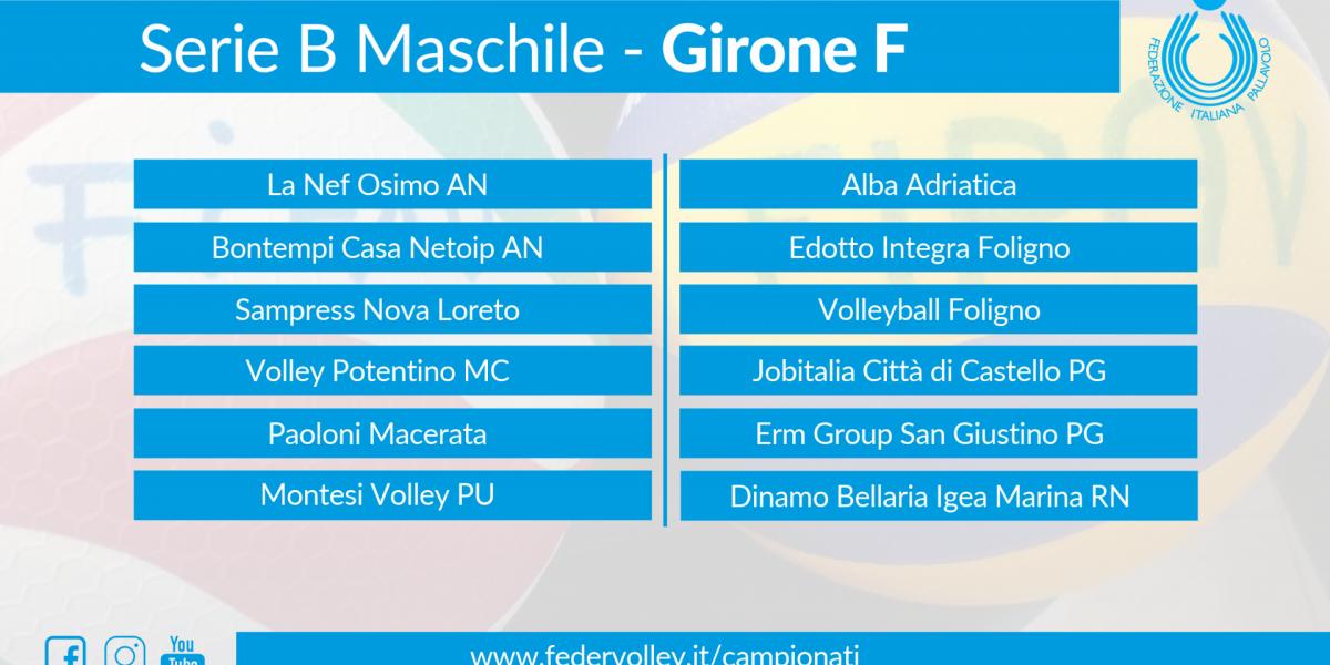 Ufficializzato il campionato di Serie B maschile, per la Dinamo girone F